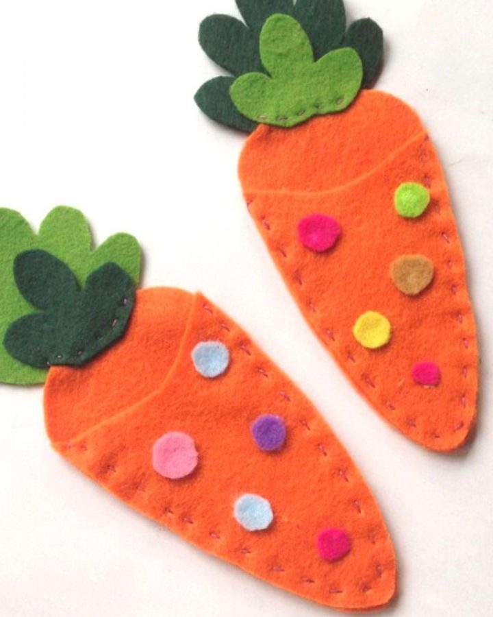 Easter Felt Carrot Treat Bags Craft