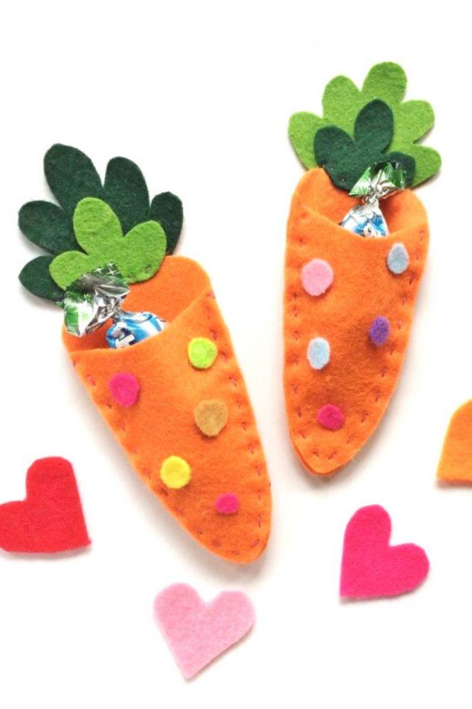 Easter Felt Carrot Treat Carrot