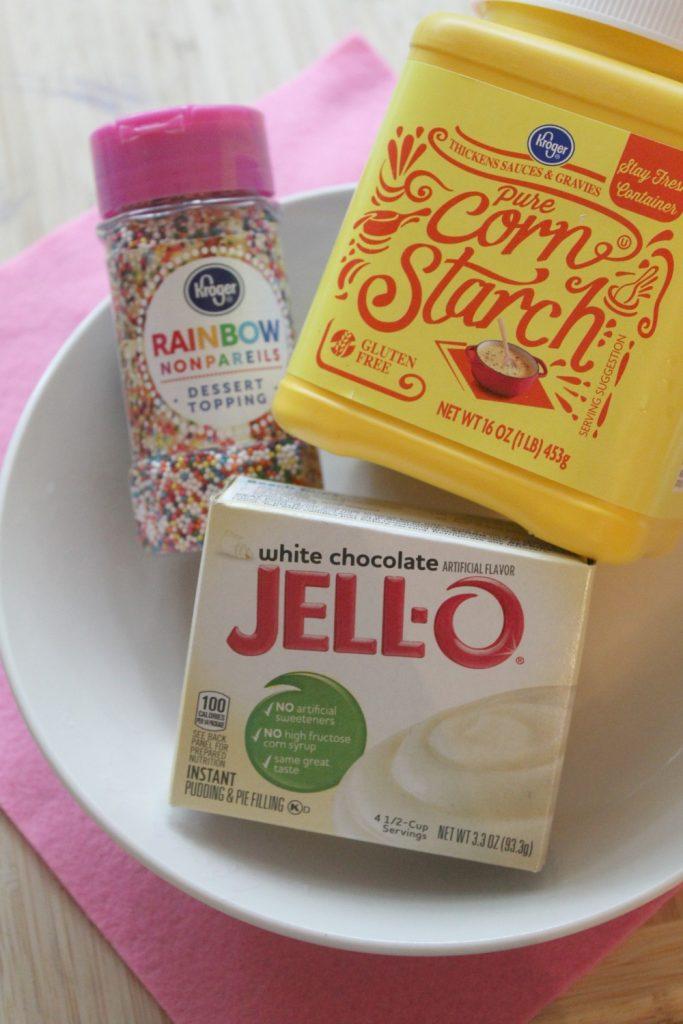 Funfetti Edible Slime Recipe ingredients