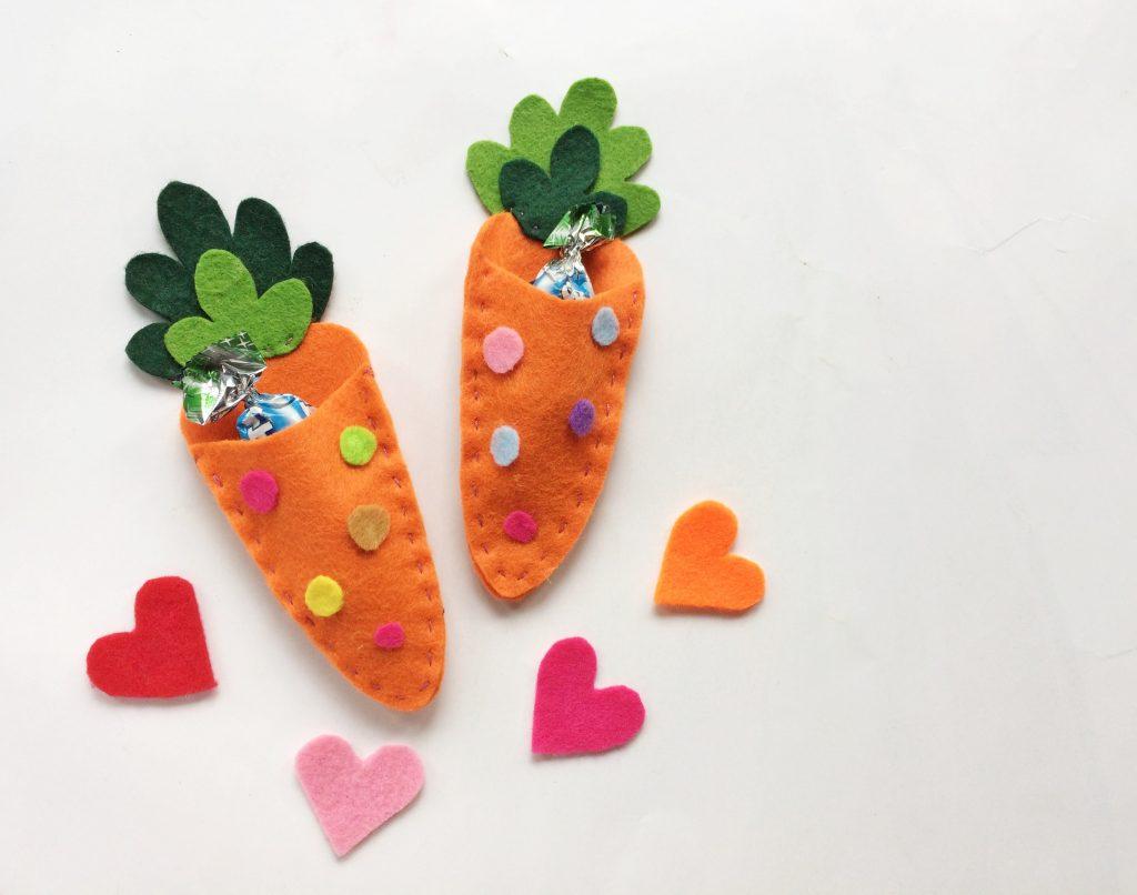 Easter Felt Carrot Treat Bags Craft