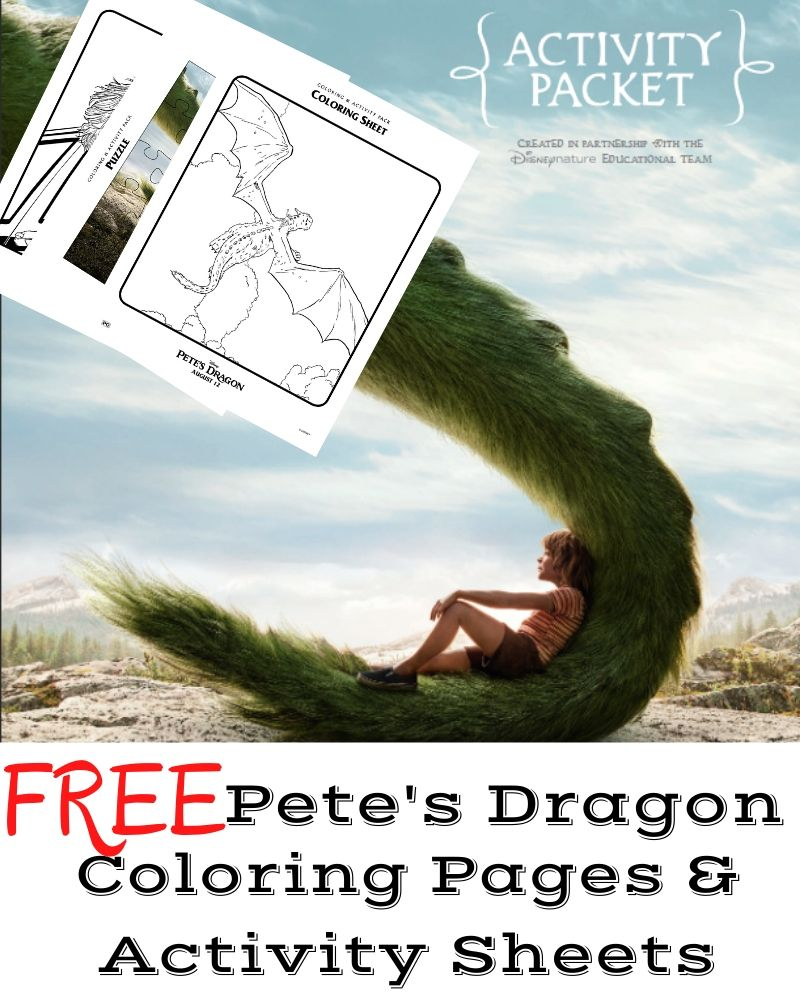 Pete's Dragon Coloring Pages and Activity Sheets