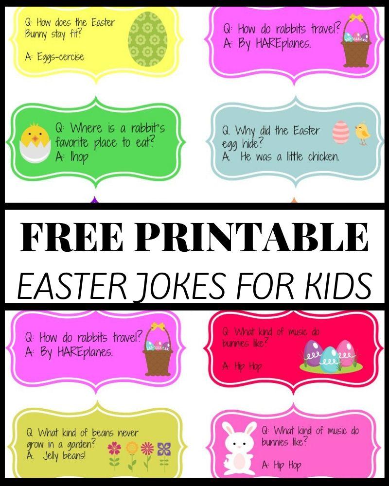 Funny Easter Jokes Printable for Kids
