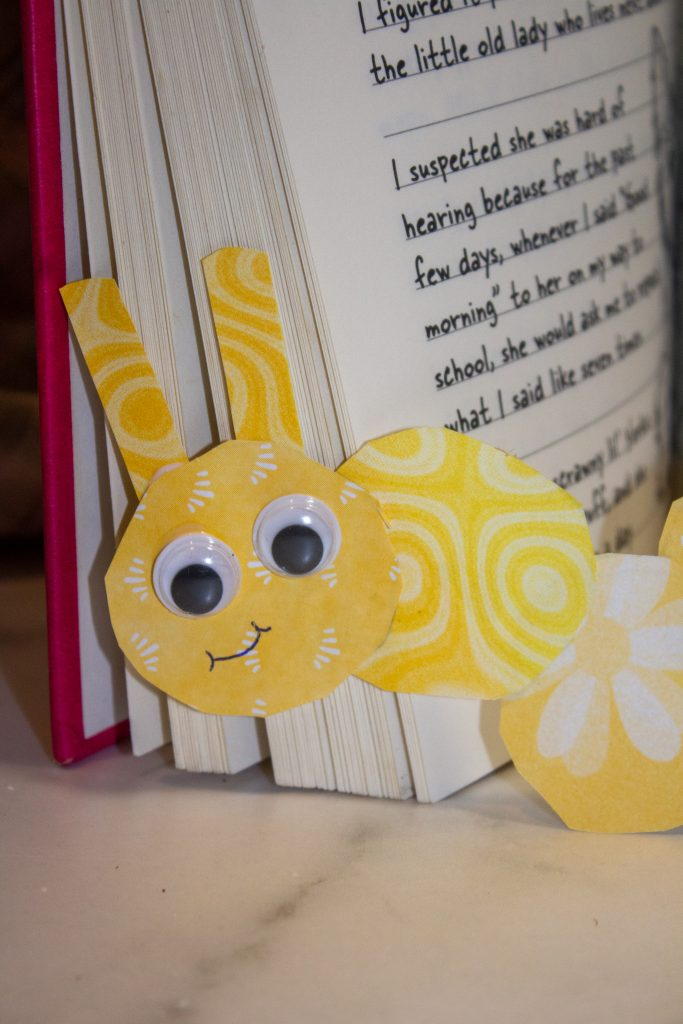 yellow bookmark for kids