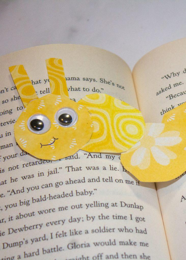 Bookworm Paper Bookmark for Kids